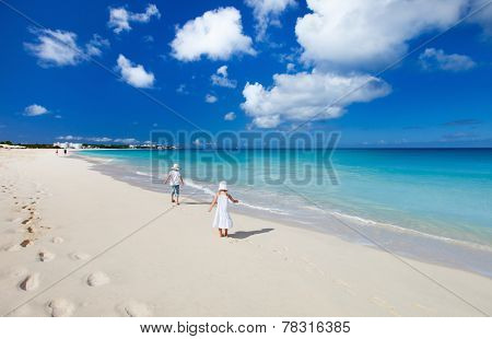 Beautiful tropical beach at Anguilla, Caribbean