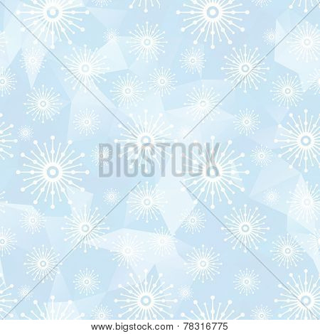 light seamless background with snowflakes