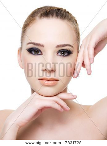 Woman With Black Eye Make-up