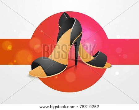 Women's sandals on stylish background.