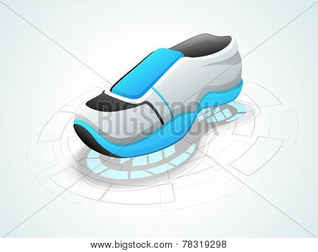 Isolated shoe on stylish background.