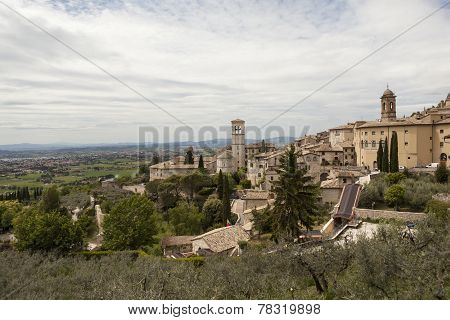 Map of Gubbio. Umbria. Italy
