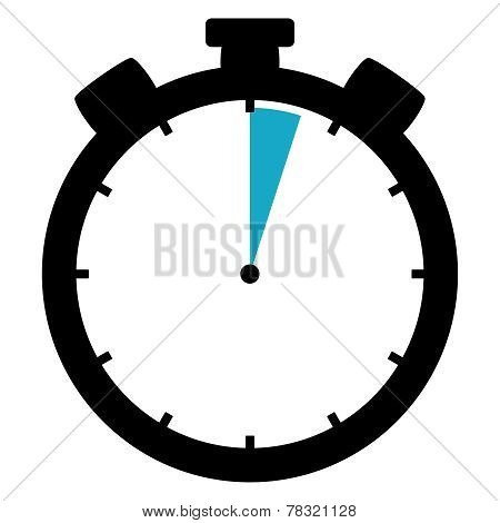 Stopwatch Icon: 3 Minutes / 3 Seconds