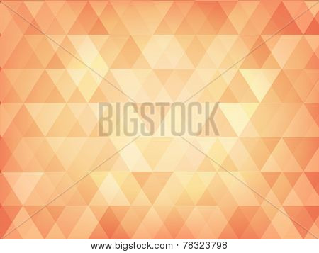 Triangle Abstract Background Of Pastel Orange