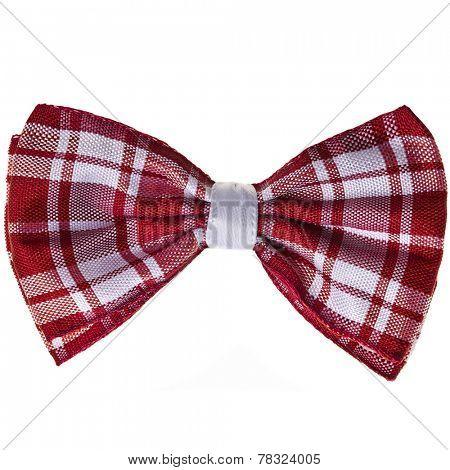 scottish handmade bow tie isolated on white background