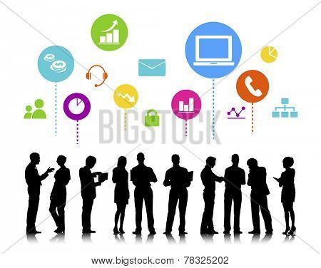 Business People with Social Media Concept
