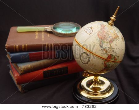 Globe with Books3
