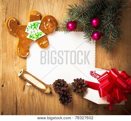 Christmas card: blank