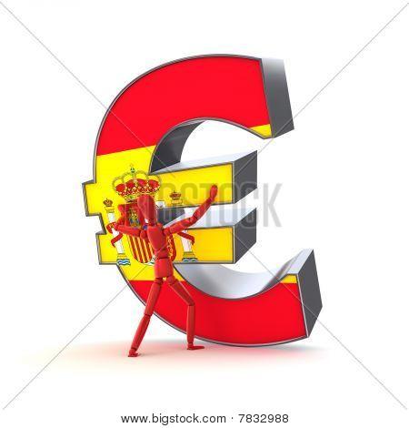 Keeping Up The Euro - Spanish Flag