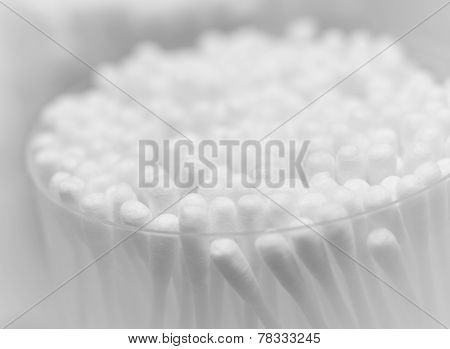 Group Of White Cotton Swabs