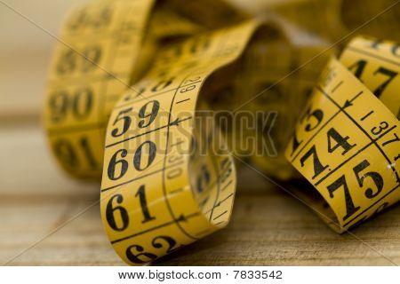 Tailor metrical measure tape detail