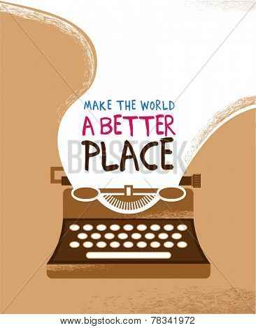 Vintage typewriter poster with a place for text