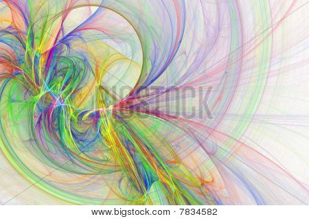 Fresh Artistic Rainbow Wave Background