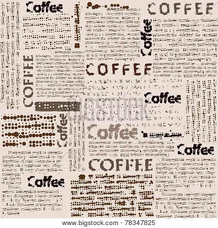 Imitation of newspaper with the inscription coffee.