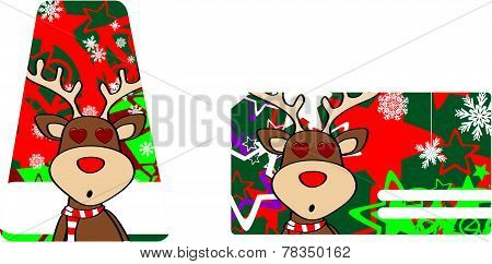 inlove reindeer cartoon giftcard
