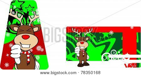 bad xmas reindeer cartoon giftcard