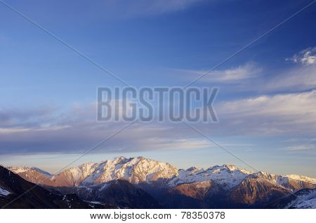 Posets peak, 3375 m., in Pyrenees mountains, Huesca, Aragon, Spain