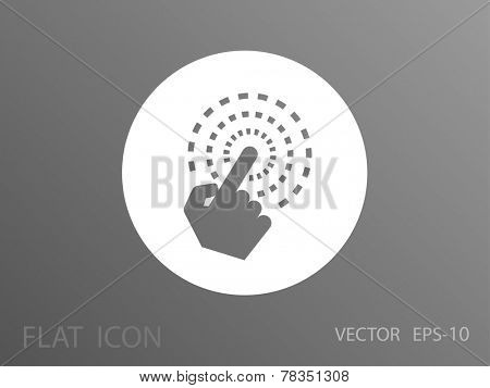 Hand Touch icon, vector illustration