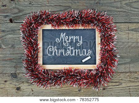 Blackboard Chalkboard Merry Christmas