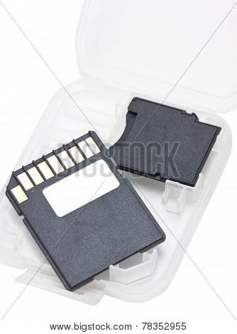 Sd Memory Card Isolated On White.