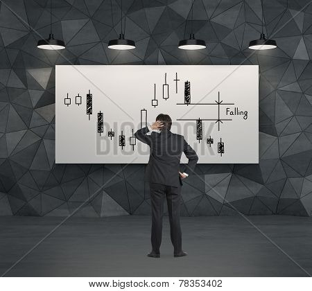 Businessman Looking To Chart