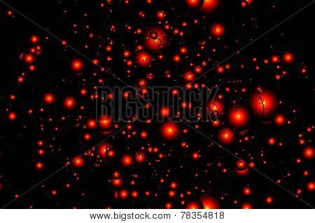 seamless pattern of red lights