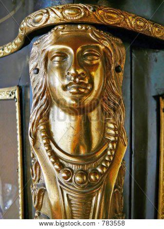 Golden Woman's Head