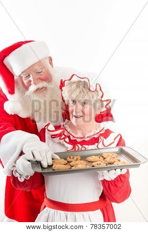 Santa Steals A Cookie