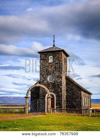 An old stone church in Northwest Iceland
