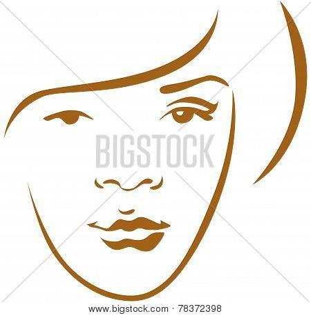 Woman Head Contour