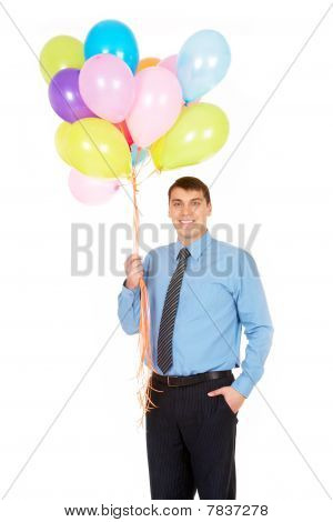 Man With Balloons