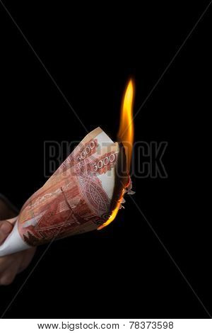 Burning Rubles