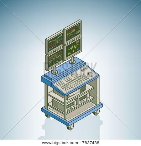 Unidad de electrocardiografía / Electrocardiógrafo