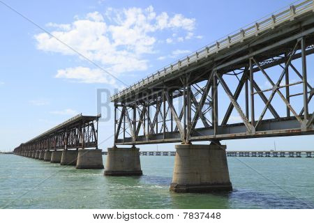 The old Railroad Bridge on Bahia Honda Key