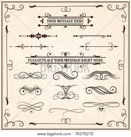 Calligraphic elements.