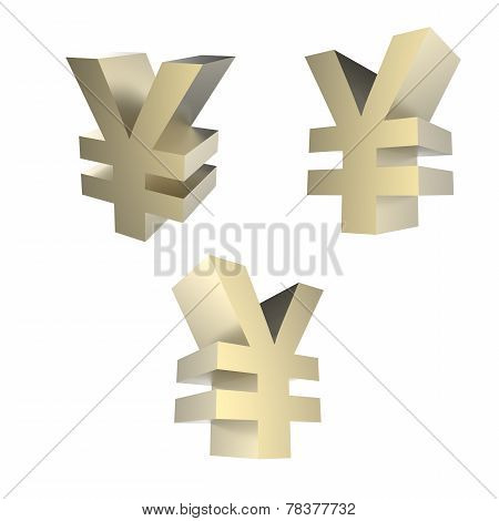 Golden Yuan Sign