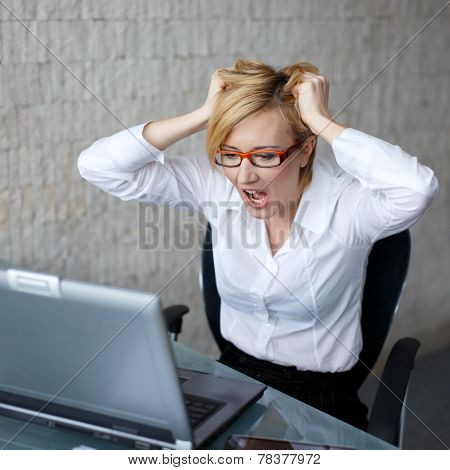 Young Woman Can't Handle Workload