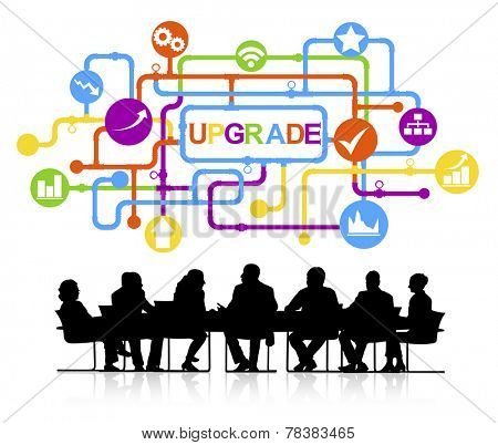 Vector of Business Meeting Upgrade