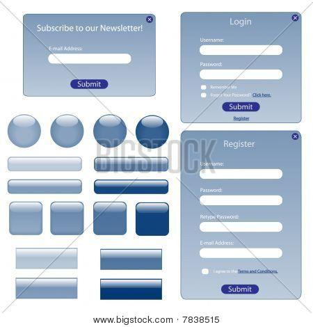 Web Forms Blue