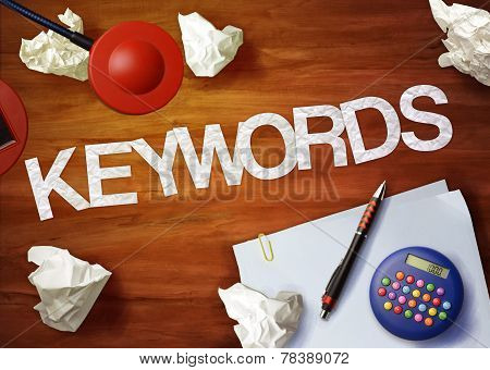 Keywords Desktop Memo Calculator Office Think Organize