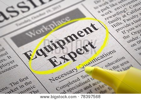 Equipment Expert Jobs in Newspaper.