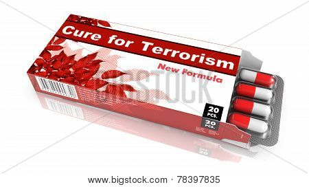 Cure for Terrorism - Blister Pack Tablets.