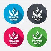 foto of priest  - Prayer room sign icon - JPG