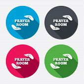 image of priest  - Prayer room sign icon - JPG