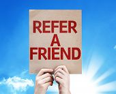 stock photo of suggestive  - Refer a Friend card with beautiful day - JPG