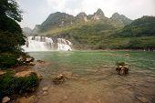 stock photo of waterfalls  - Datian waterfall  - JPG