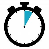 picture of 5s  - Black and blue Stopwatch Icon showing  - JPG