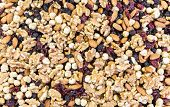 image of mixture  - Mixture of different nuts and fruits - JPG