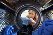 pic of washing-machine  - Woman Accidentally Dyeing Laundry Inside Washing Machine - JPG
