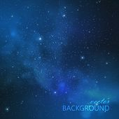 picture of meteorite  - abstract vector background with night sky and stars - JPG